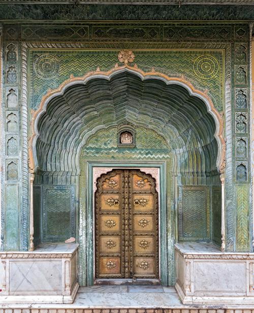 インドの寺院の入り口