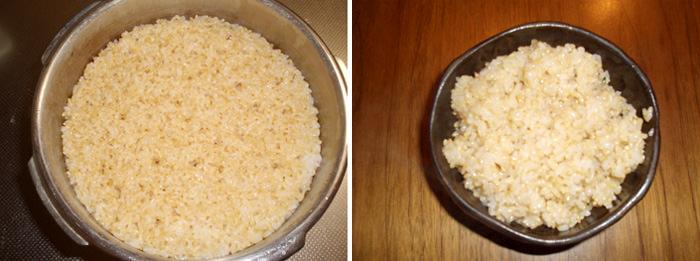 玄米を炊く②