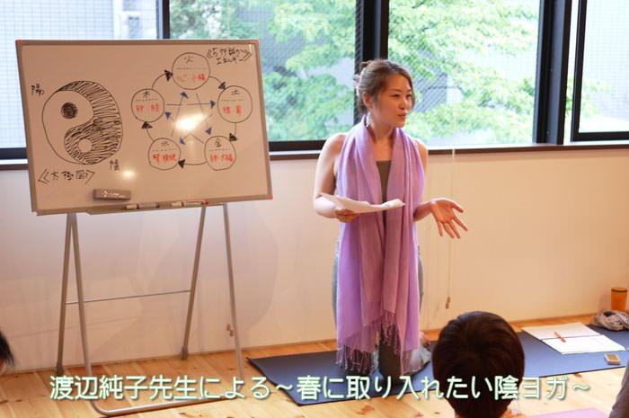 ホワイトボードを使って説明する渡辺純子先生