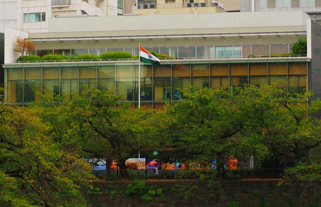 東京のインド大使館外観