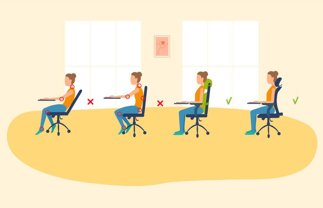 正しく座ることで、身体のトラブルが改善