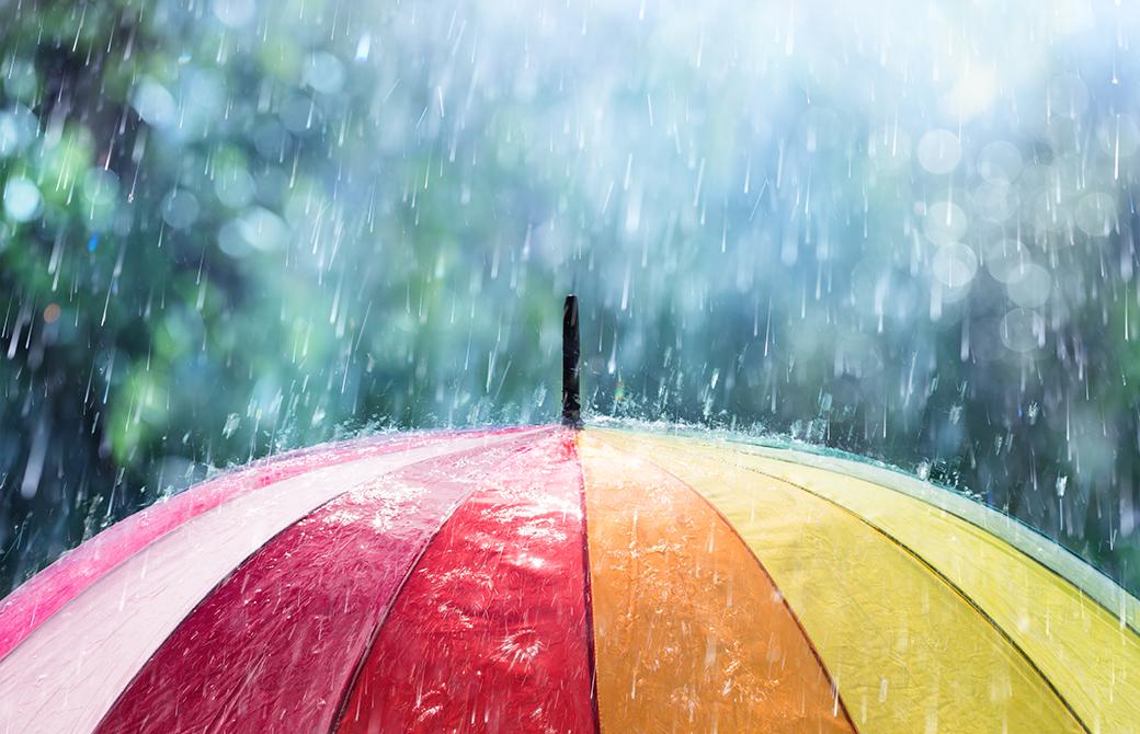 「梅雨どきのヨガ」