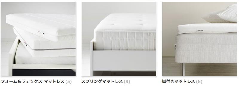 IKEAイケアのマットレスカタログ