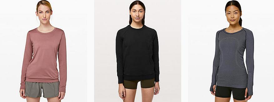 ルルレモンのオンラインサイトのロングスリーブシャツ画像