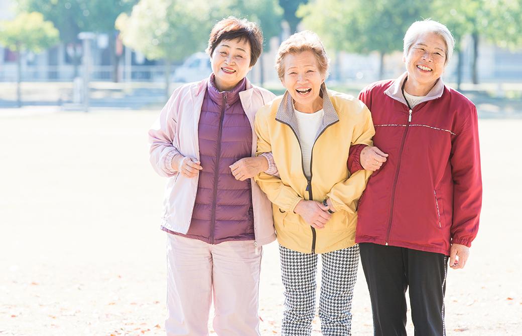 おばあちゃん仲良し3人組