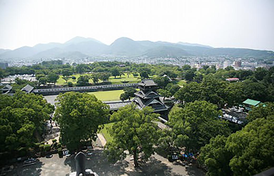 熊本城からの見晴らし