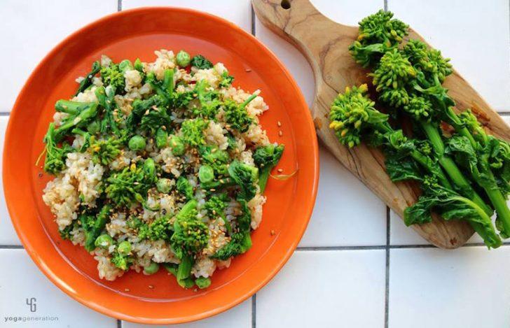 菜の花の玄米サラダ