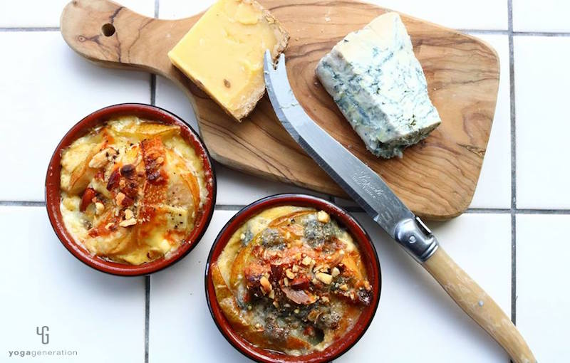 洋ナシのフレンチトーストとチーズ
