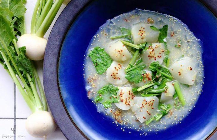 白味噌仕立ての蕪(かぶ)スープ