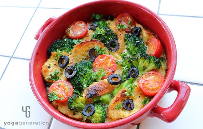 野菜たっぷりグリル仕上げのフレンチトースト