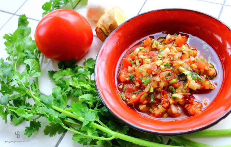 アジアン風の甘辛トマトソース