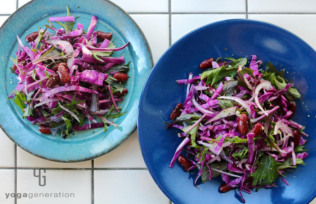 人生を活き生きる紫エネルギーのサラダ