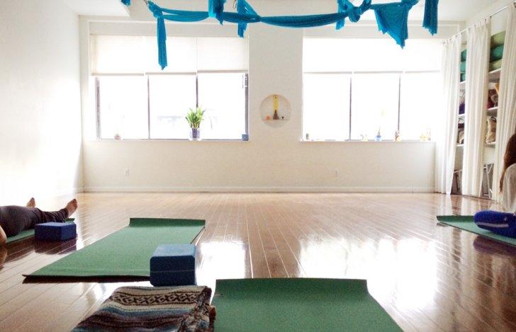 ニューヨークのヨガスタジオSacred Sounded Yogaの内観