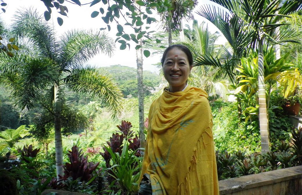 Mahokoがカウアイのヒンズー寺院を訪れたとき