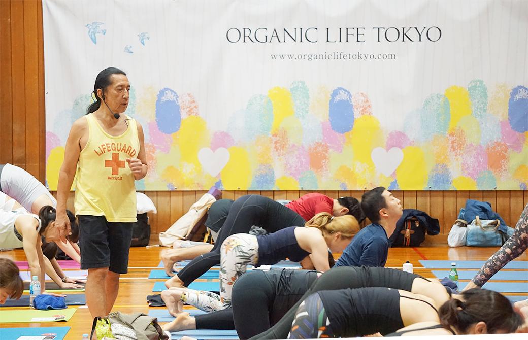 体育館で開催されたケンハラクマ先生のクラス風景
