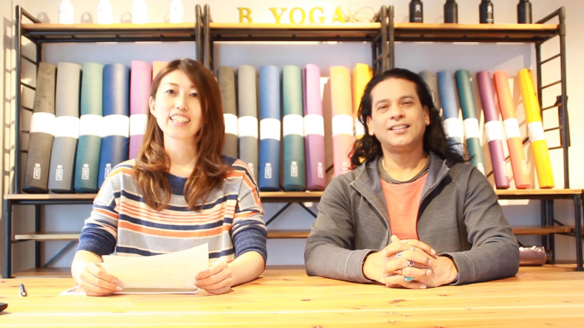 ヨガジェネレーション企画部 べー(左)とYOGA SPA yogayuH プロデューサー クリシュナ・グルジ先生(右)