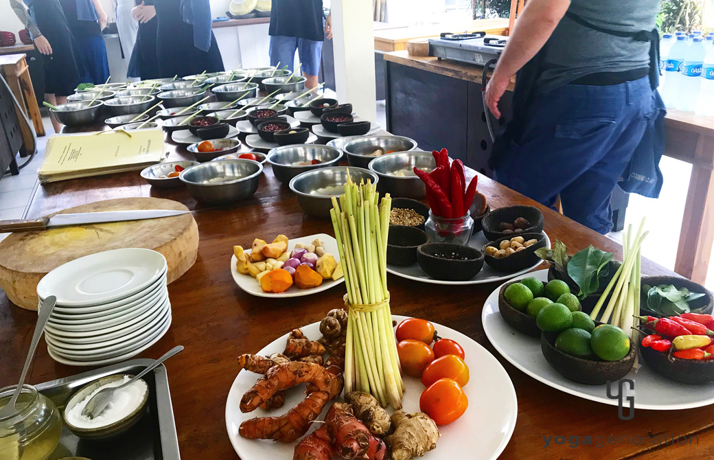 バリ島現地のお料理教室の様子