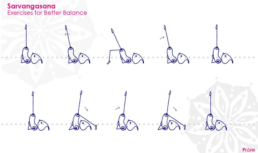 肩立ちのポーズのバランス練習法