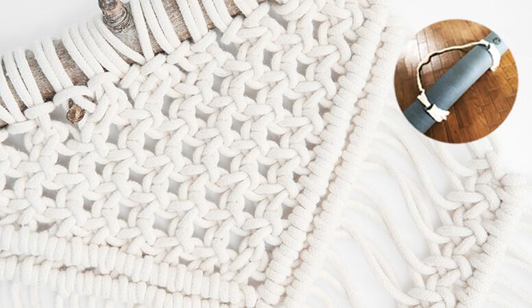 マクラメ編みのヨガマットストラップ参考写真
