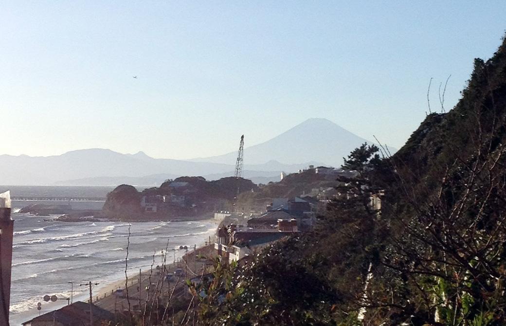 Mahokoのブログ 鎌倉から臨む富士山