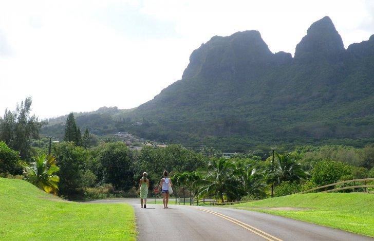 ハワイ・カウアイ島の切り立った山並み