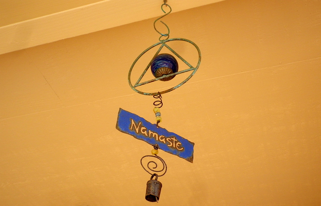 mahokoのブログ Namasteと書かれた外国風の風鈴