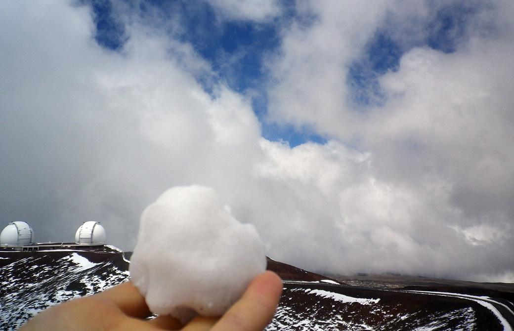 mahokoのブログ ハワイ島の雪