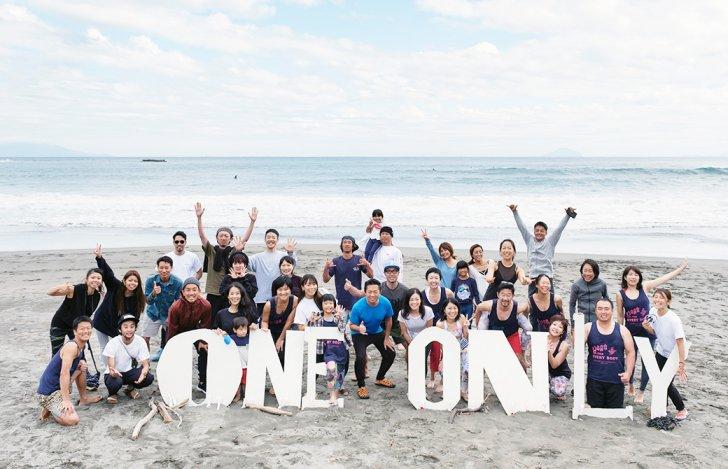 2018年に伊豆で開催されたヨガイベントoneandonlyの集合写真