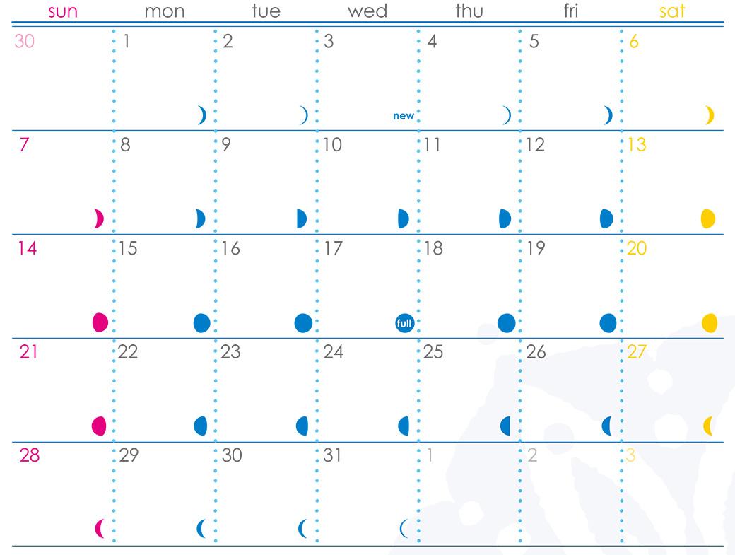 プラーラ×ヨガジェネ7月のカレンダー:月の流れがわかる!