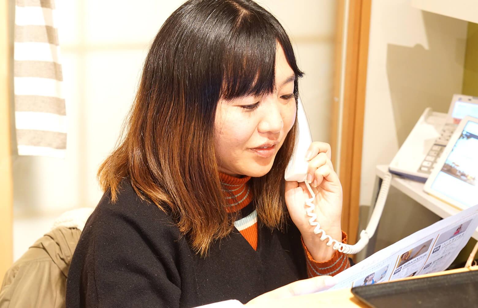 企画部スタッフ「かめちゃん(亀田裕子)」のお仕事風景