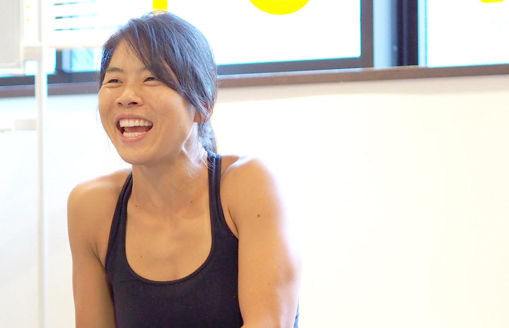 ヨガを教えるのはすごく好き。だけど練習はもっと好き!と語ってくれたヨーコ・フジワラ