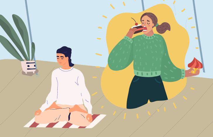 タパスとしてよく行われている断食は、決めたことを守るという意志の強さが重要