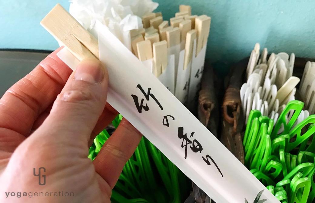 マウイで日本の割り箸
