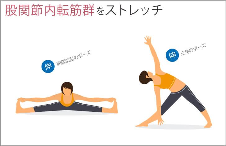 股関節内転筋群をストレッチ