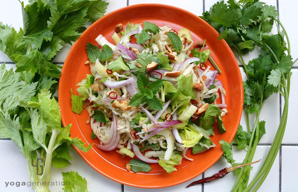 切り干し大根と香味野菜のアジアン・サラダ