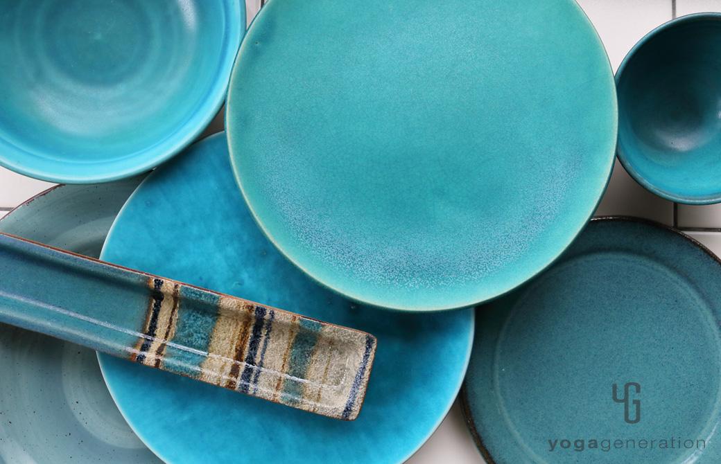 ゆるベジ:ターコイズの皿たち
