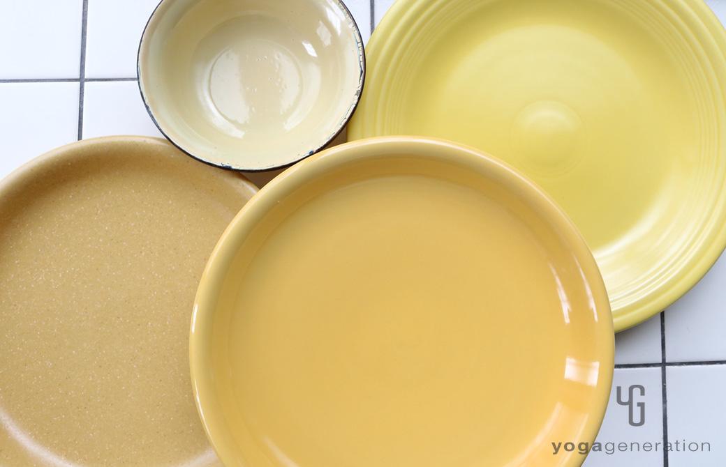 ゆるベジ:黄色の皿たち