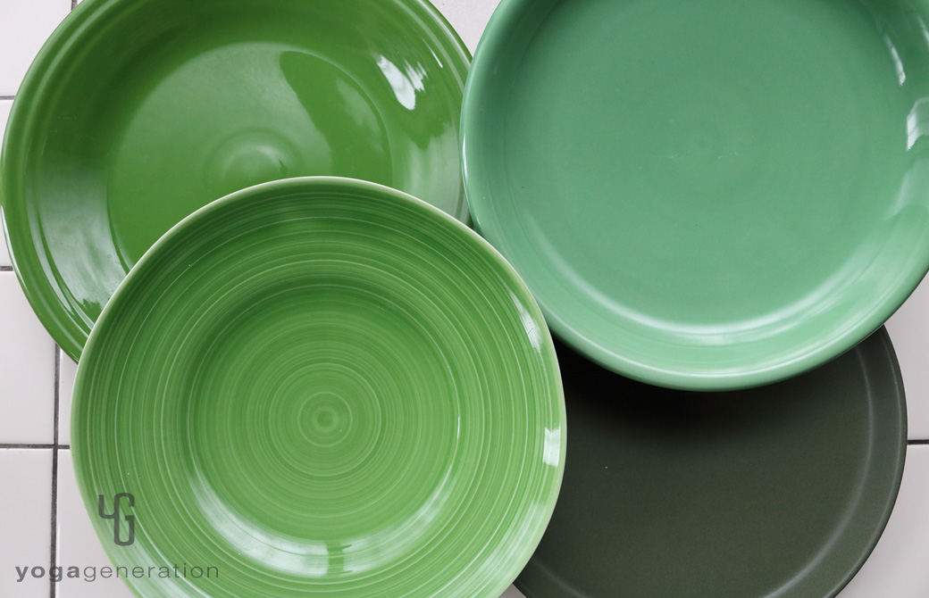 ゆるベジ:緑色の皿たち
