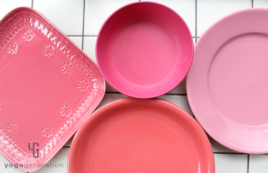 ゆるベジ:ピンク色の皿たち