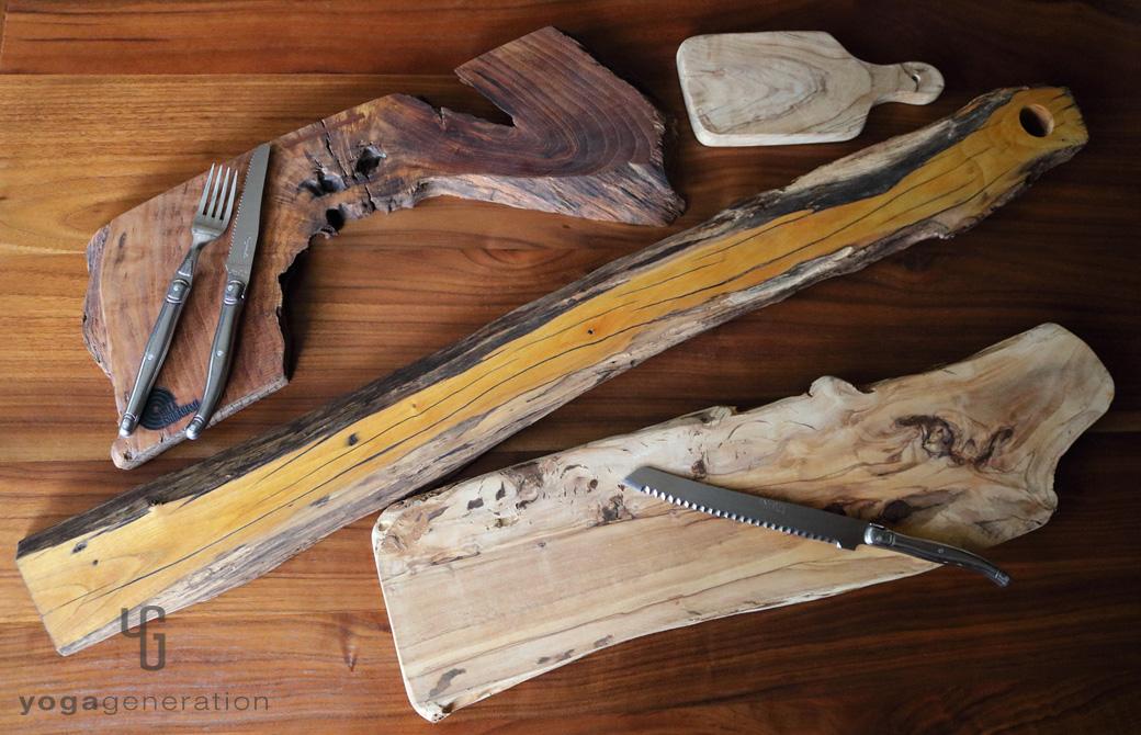 ゆるベジ:カッティングボードの皿たち