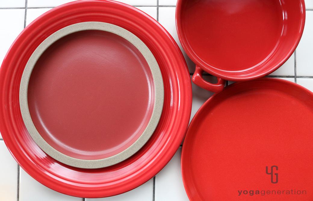 ゆるベジ:赤の皿たち