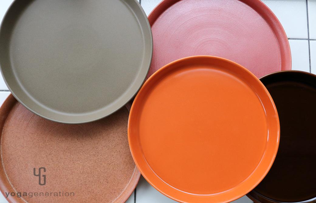 ゆるベジ:オレンジの皿たち