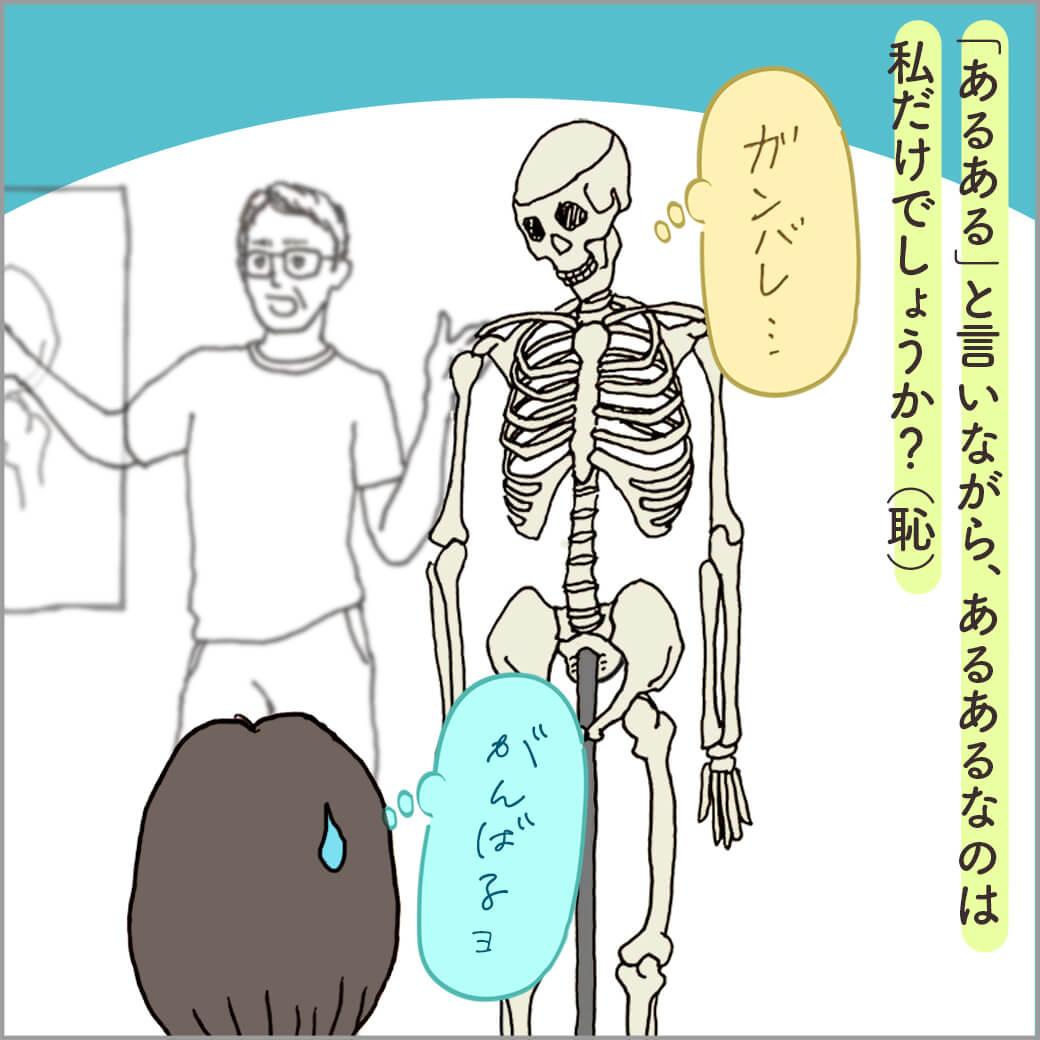 ヨガ解剖学の講座の風景