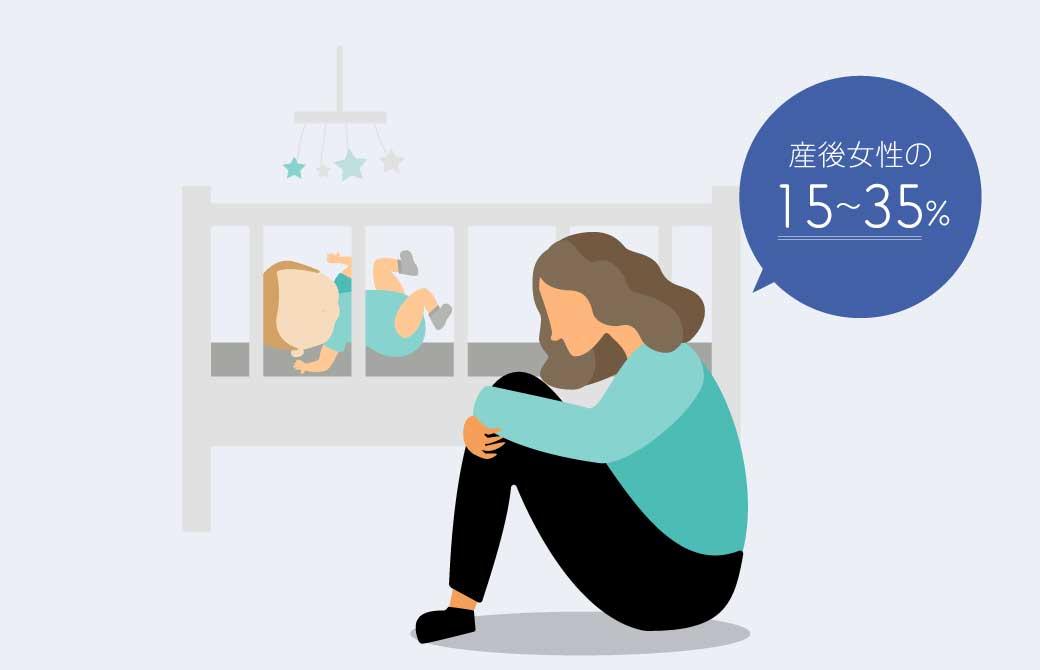 産後の不安やうつは、よくある症状
