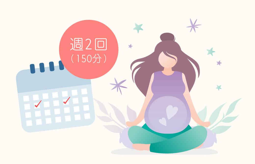 週に2回マタニティヨガをすることで、産後うつや不安が軽減