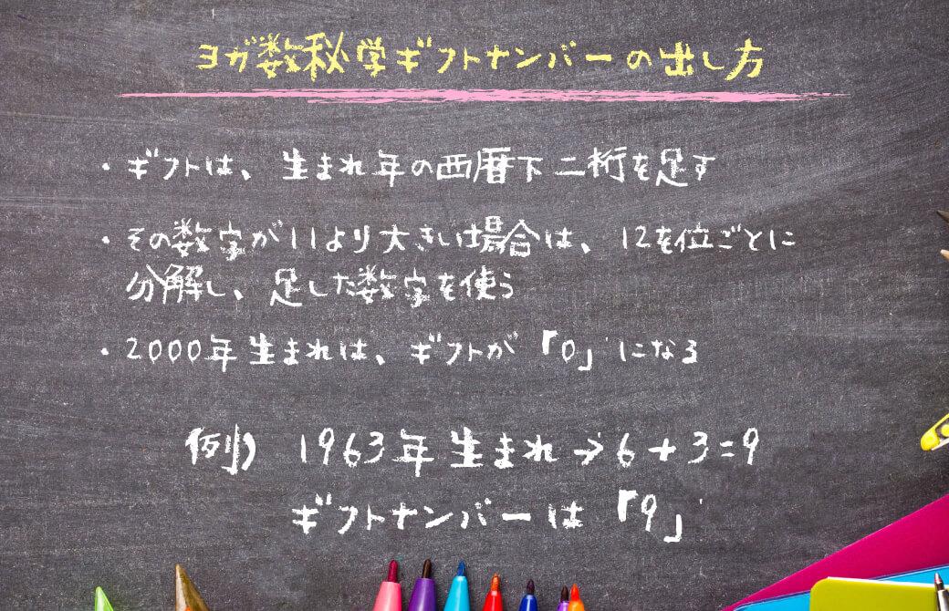 ヨガ数秘学:ギフトナンバーの計算方法