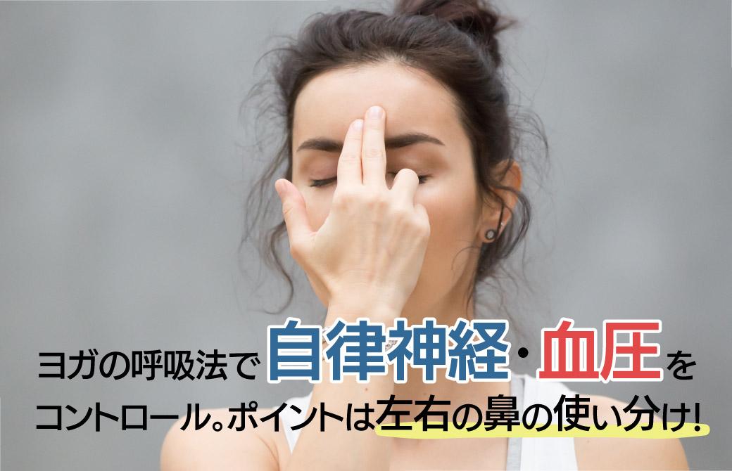 ヨガの呼吸法で自律神経・血圧をコントロール。ポイントは左右の鼻の使い分け!