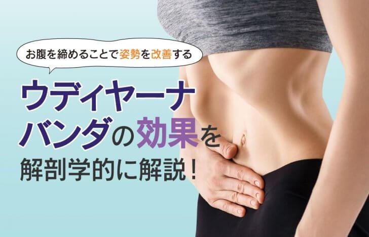 お腹を締めることで姿勢を改善する。ウディヤーナバンダの効果を解剖学的に解説