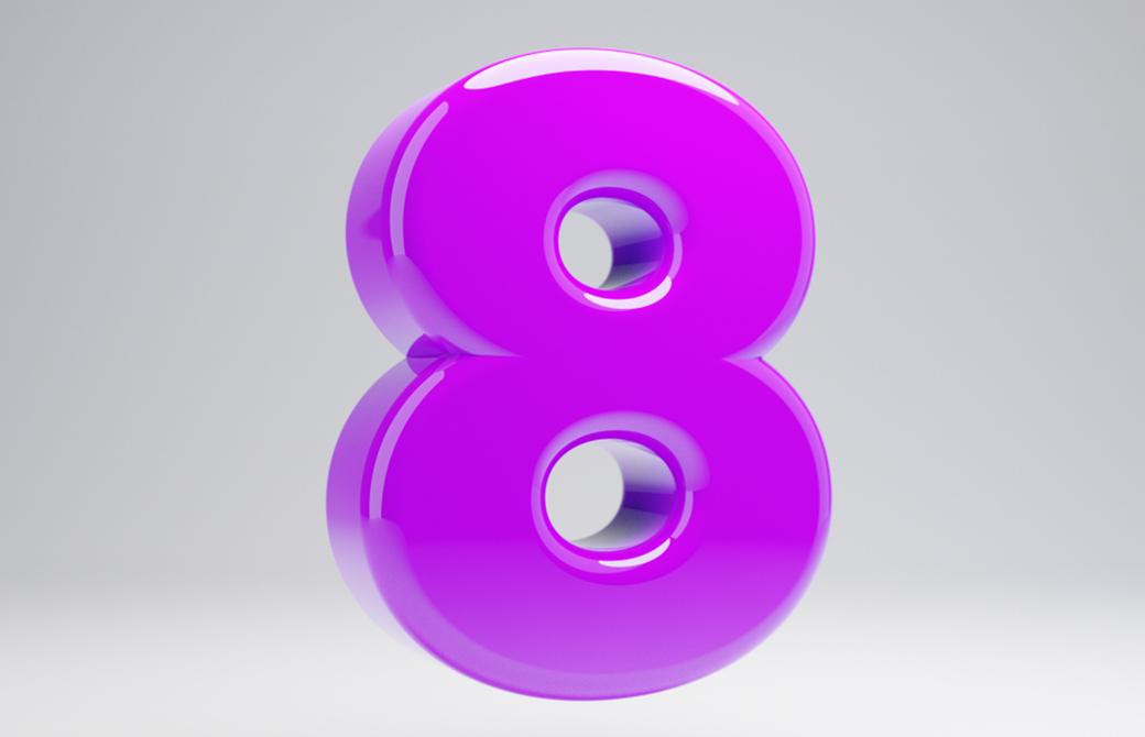 8は怒りのエネルギーでありながら、とてもパワフルな数字