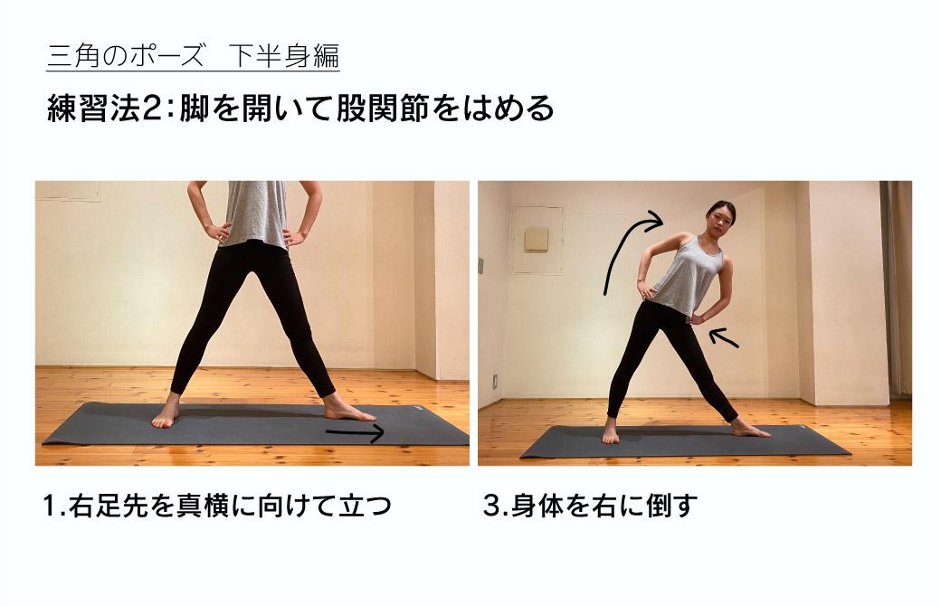 練習法2:脚を開いて股関節をはめる